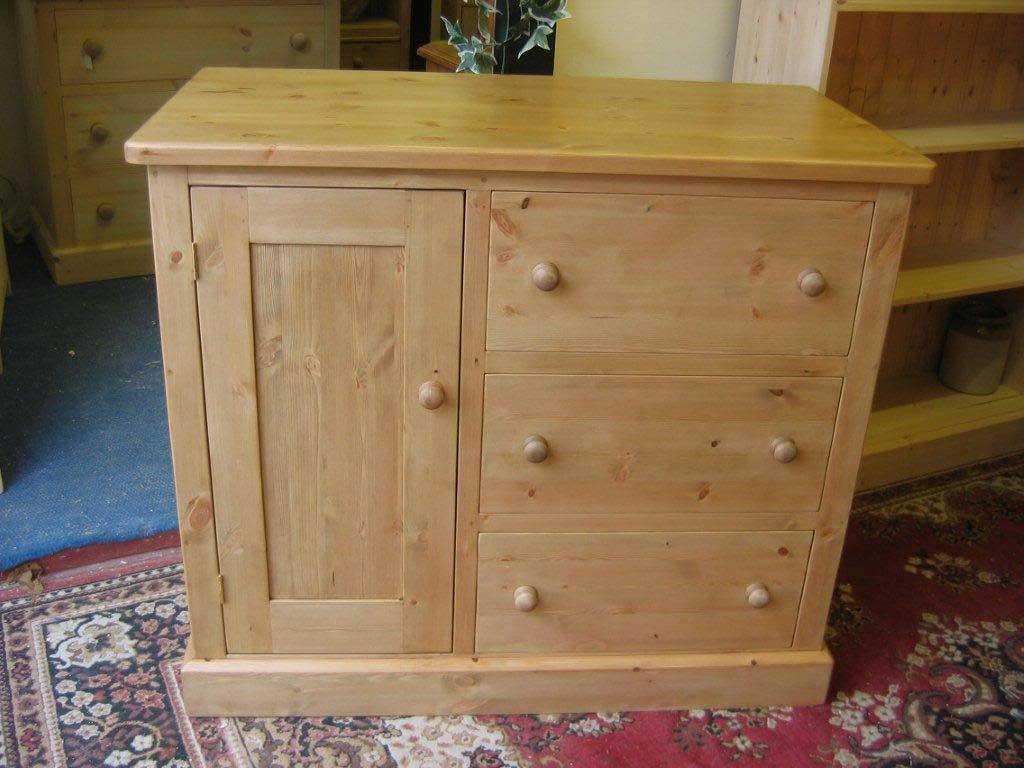 door drawe combination storage unit