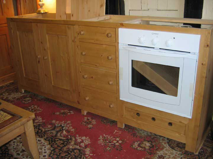 pine fitted oven unit kitchen