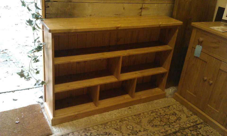 Pine waxed bookcase