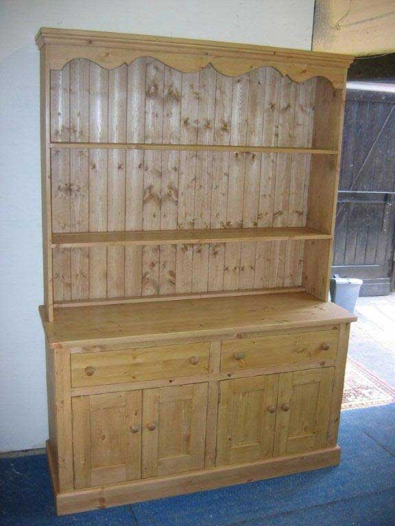 traditional pine hand made dresser