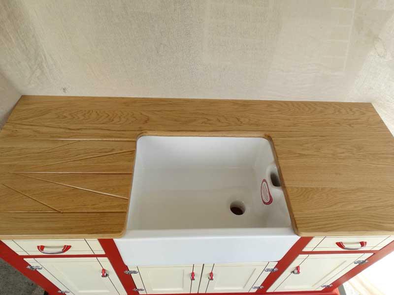 oak belfast sink drainer ceramic sink