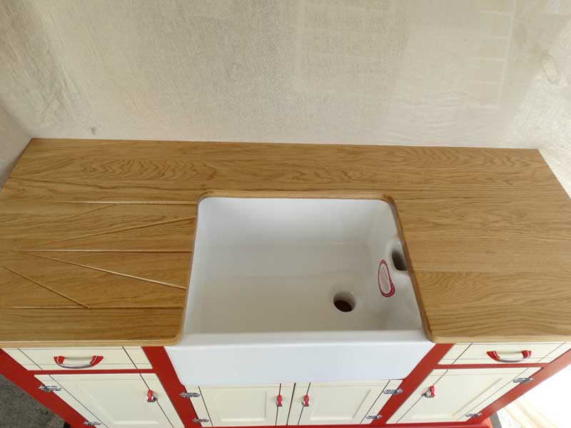 Bespoke Kitchen Belfast Sink Unit Folkestone