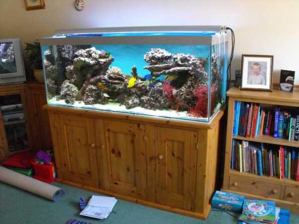 pine hand made fish tank stand