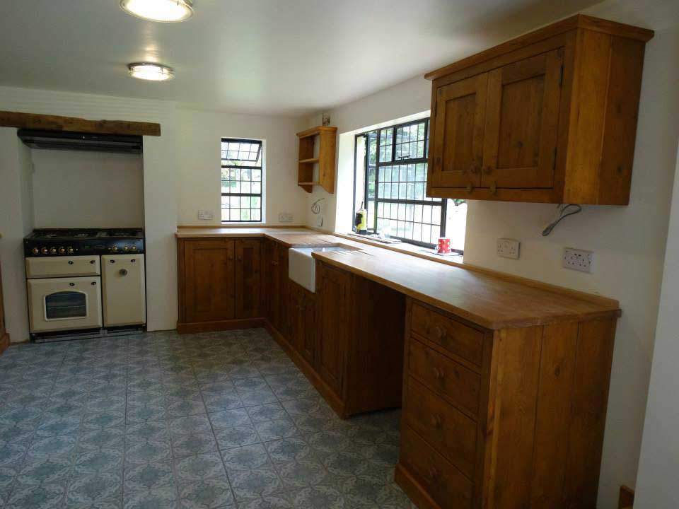 old pine oak kitchen fitted