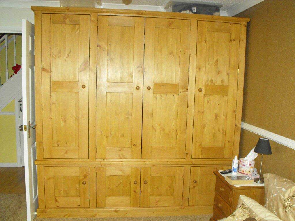 pine hand made combination wardrobe