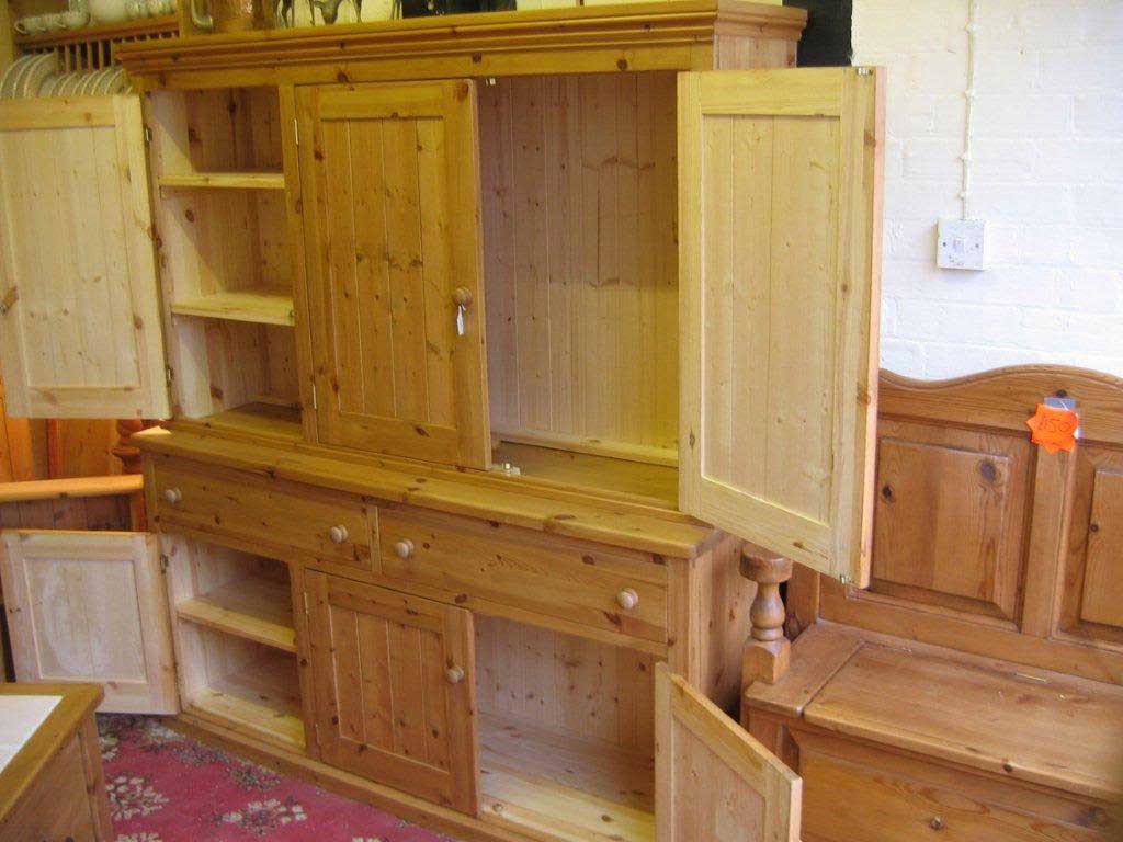 pine combination storage bedroom kitchen unit