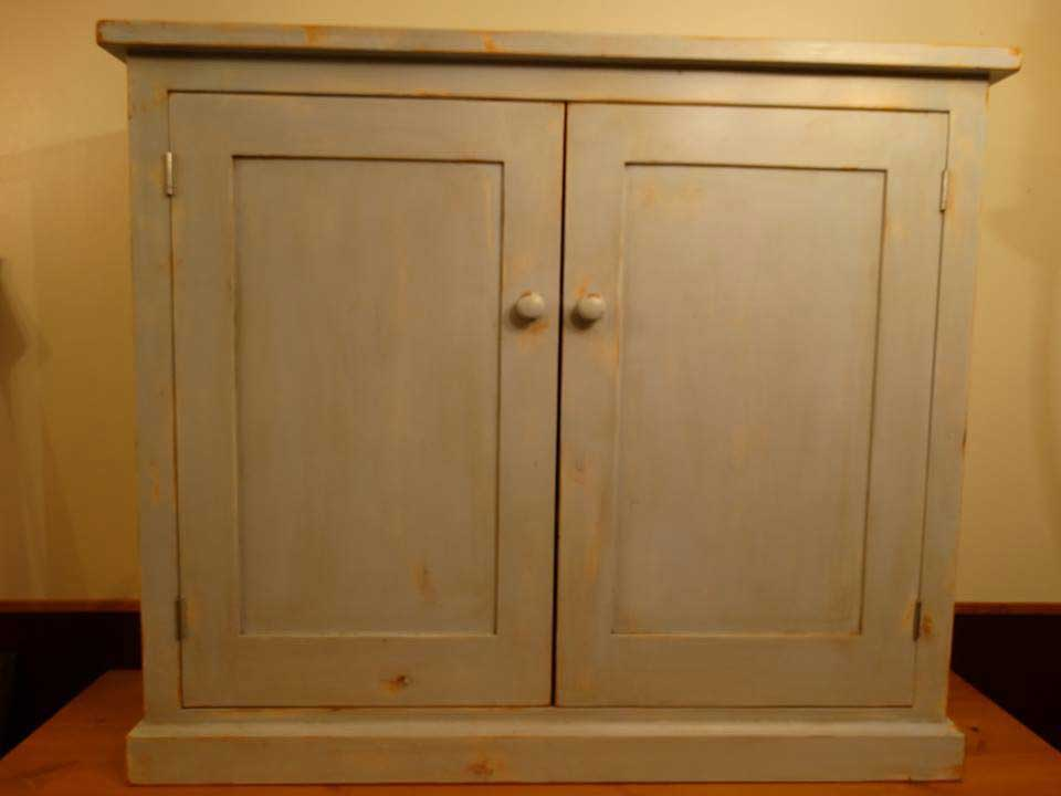 distressed painted pine cupboard Canterbury