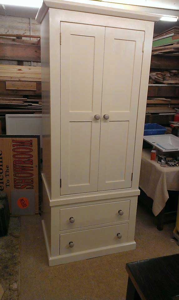 bespoke single wardrobe ceramic knobs painted