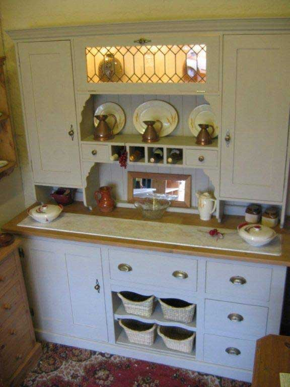 pine marble combination dresser kitchen