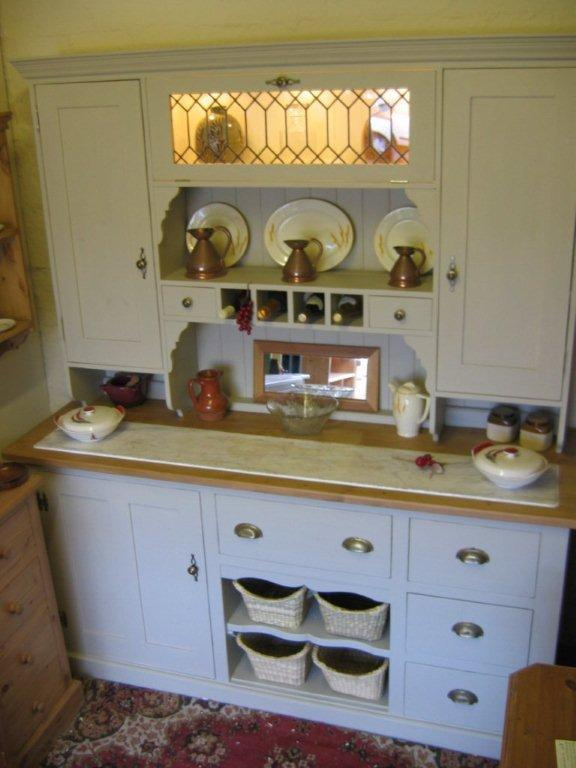 Hand crafted Painted Combination Dresser with Marble Kent