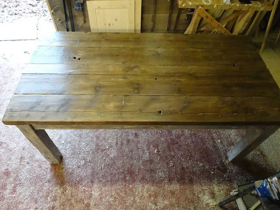 reclaimed timber table kitchen dinning room