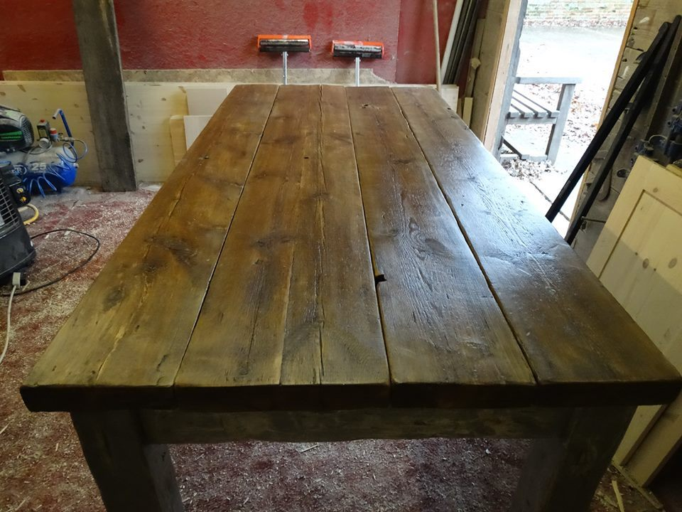 Rustic Hand made Painted Table Folkestone