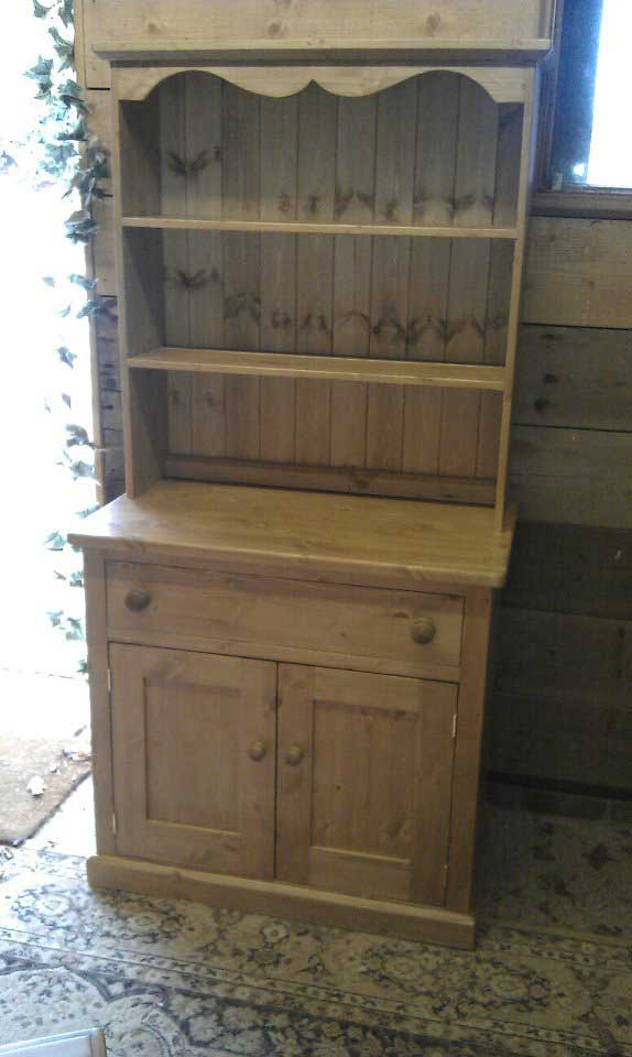 pine traditional dresser hand made waxed