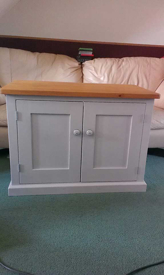 hand made painted TV cupboard New Romney