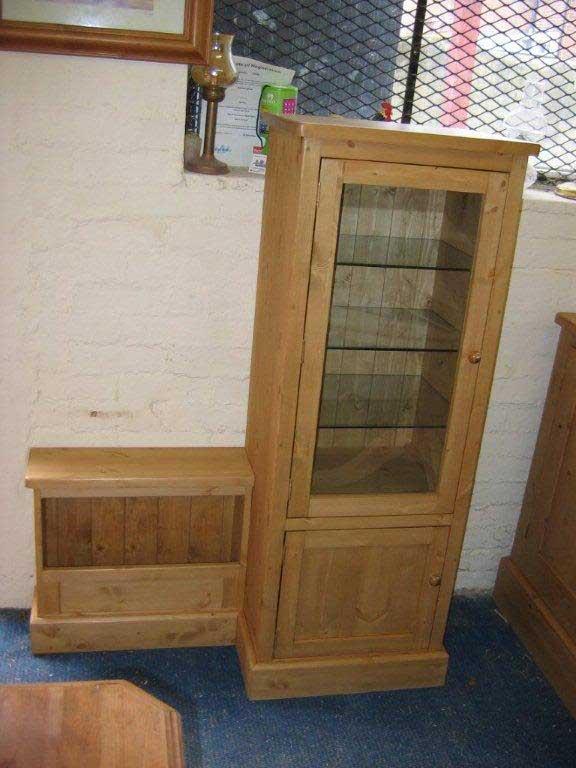 bespoke glazed storage cabinet Hythe Kent