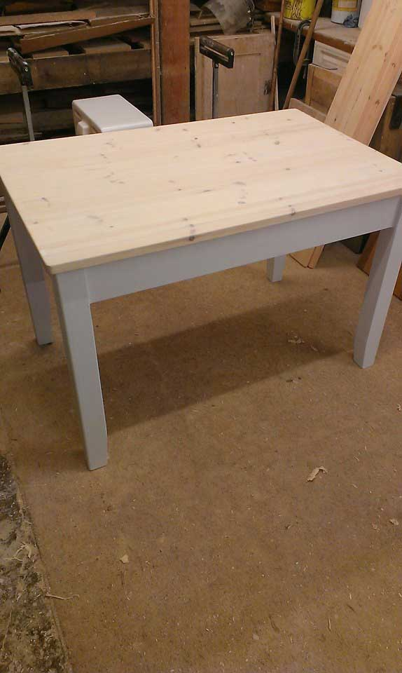 painted kitchen table seeled top