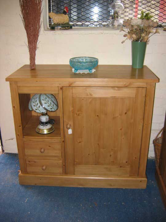 combi unit pine waxed