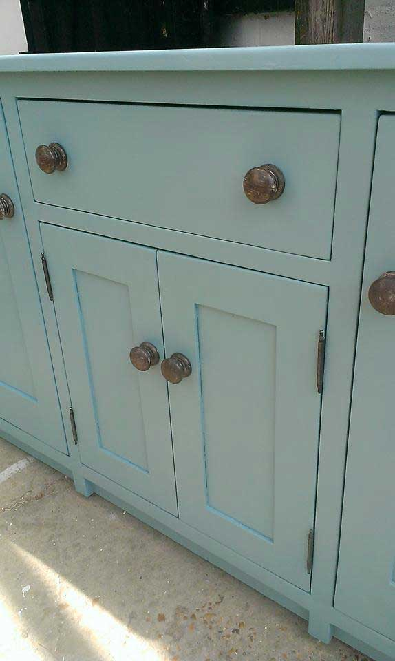 contemporary painted pine base
