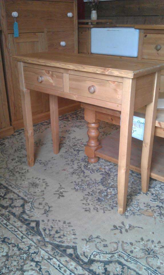 pine hall telephone table waxed