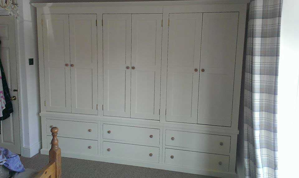 bespoke large painted pine wardrobe bedroom Dymchurch
