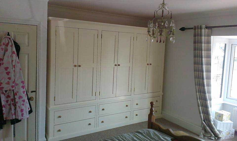 bespoke large painted pine wardrobe bedroom