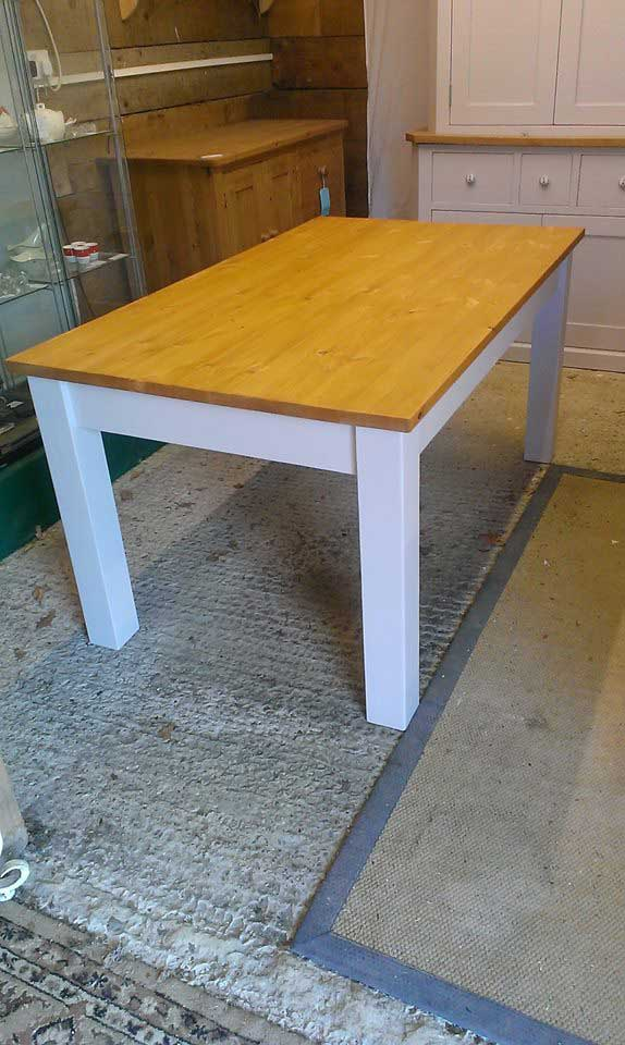 5 x 3 foot shaker kitchen table painted