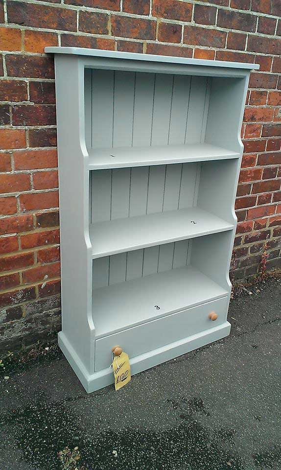 pine painted bookcase dawer Hythe