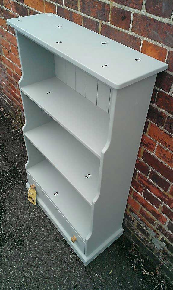 pine painted bookcase dawer