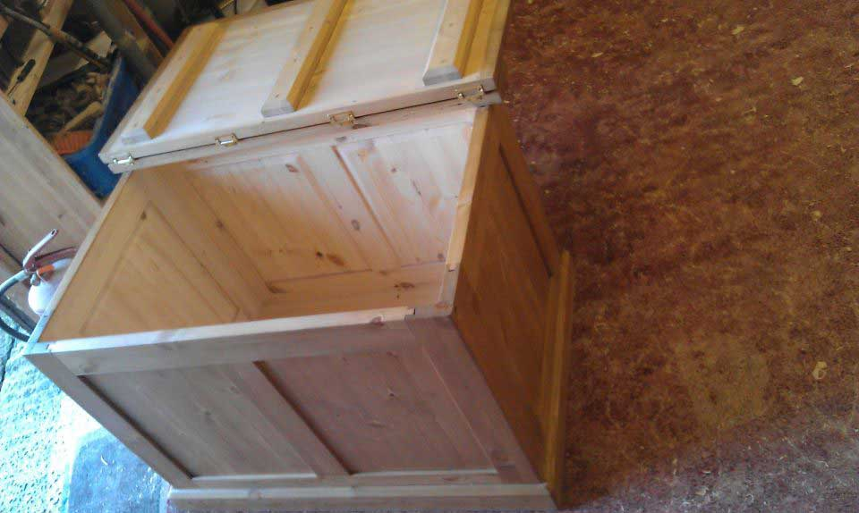 pine hand made panelled box Ashford