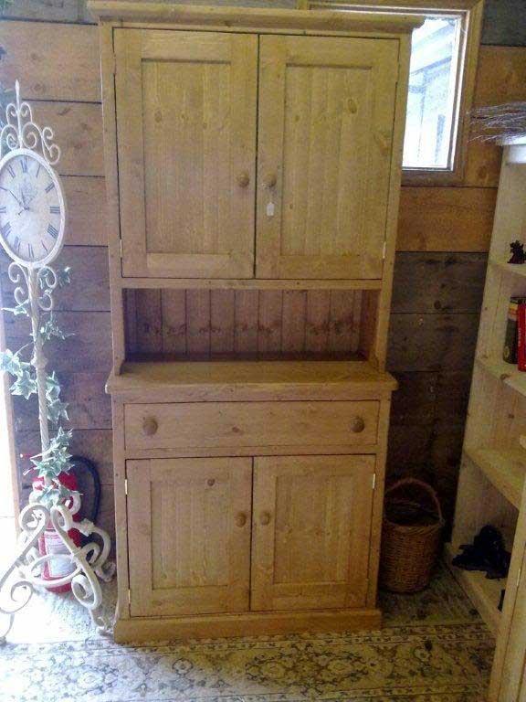 pine dresser storage kitchen waxed