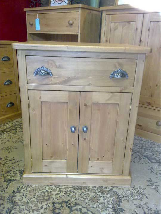 pine base drawer doors cup handles