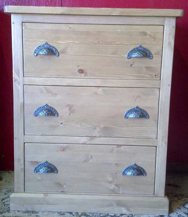 pine chest of drawers cup iron handles