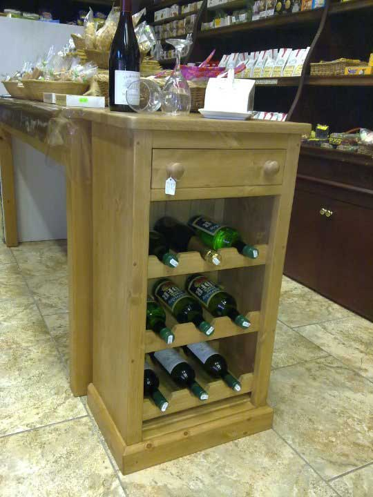 hand made wine rack drawer