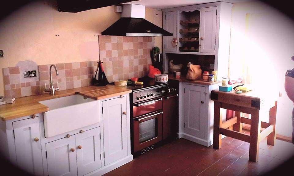 kitchen belfast sink base oak seeled top Ashford