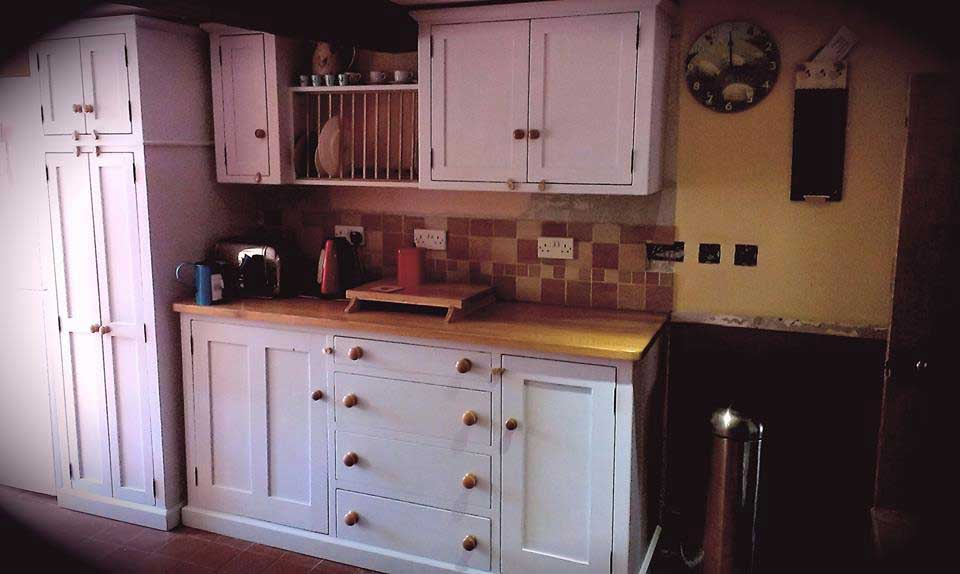 fitted kitchen painted oak pine plate rack
