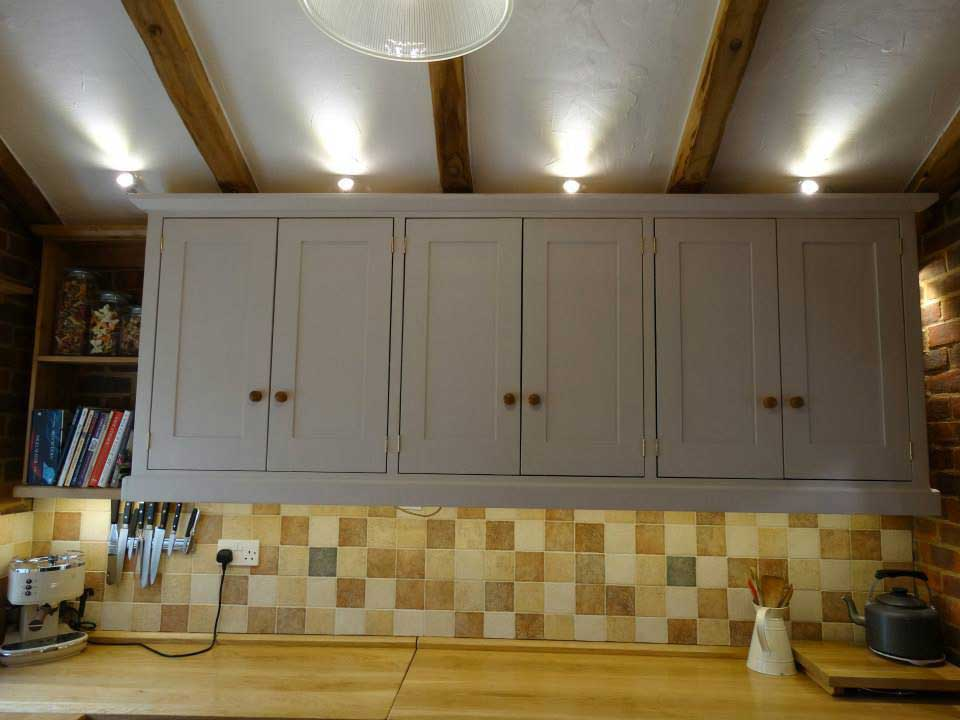 kitchen hall hanging cupbaoard painted