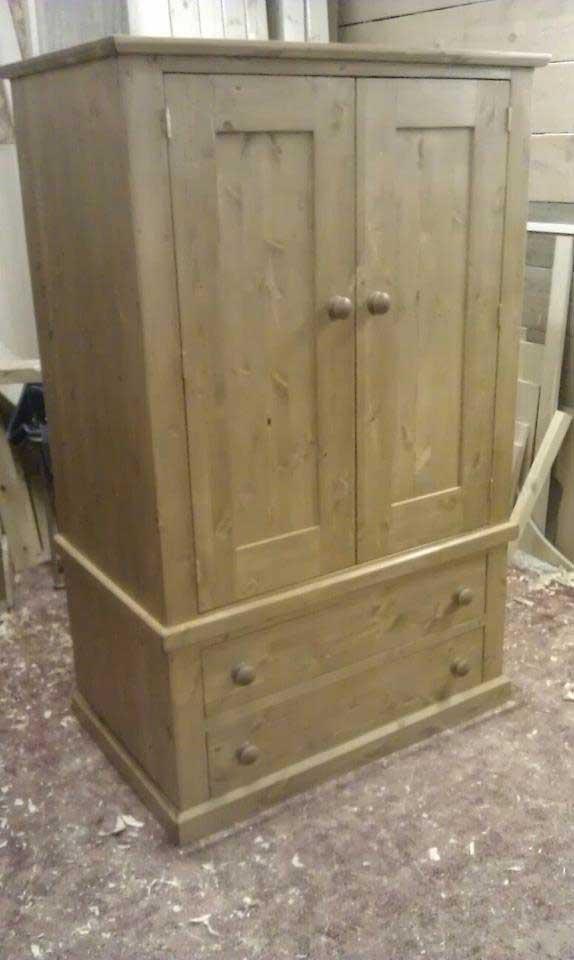 pine wardrobe drawers hand made Ashford
