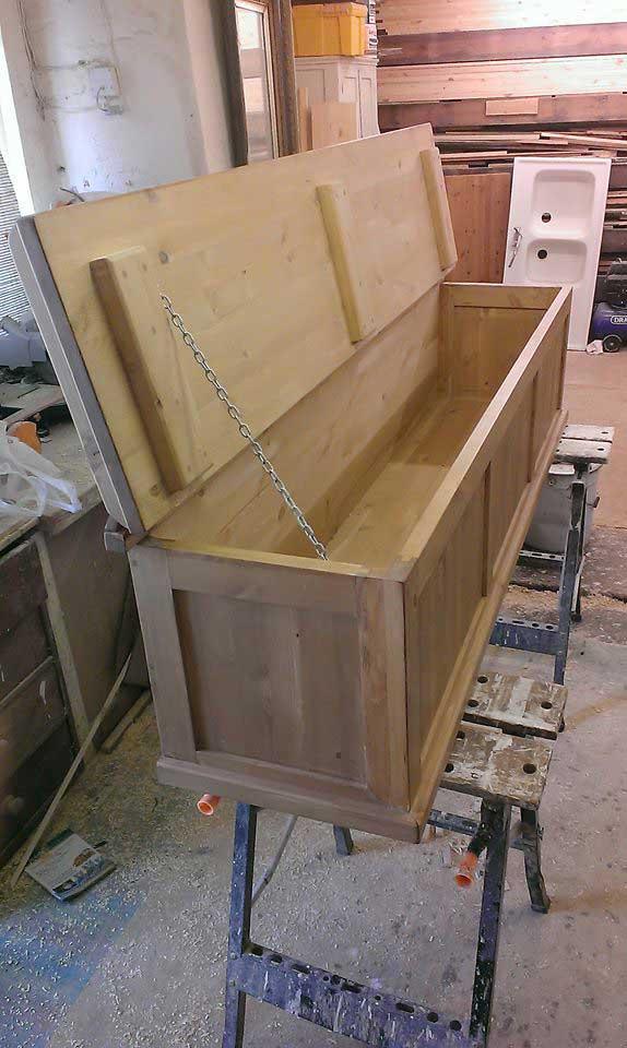 bespoke box chest pine waxed