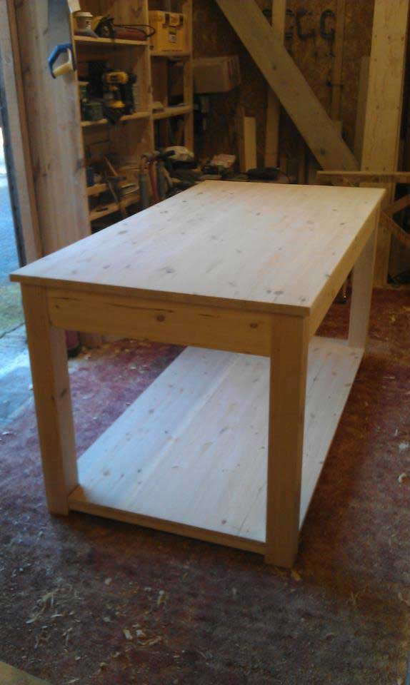 Pine hand made work station table hythe, Kent