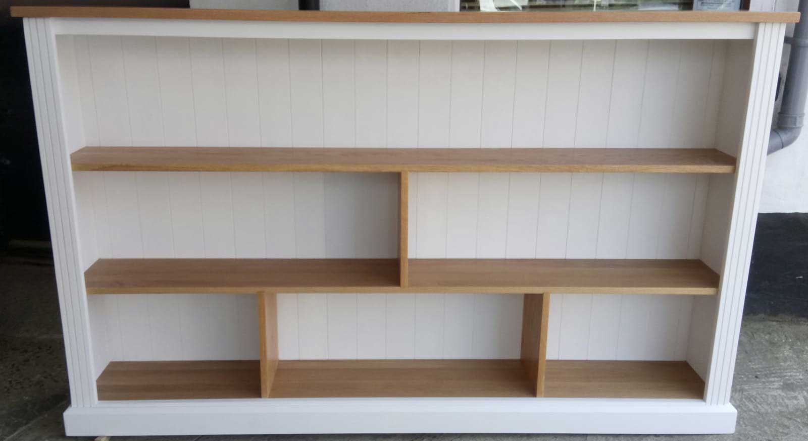 hand-made-oak-and-painted-pine-bookcase-Bromley