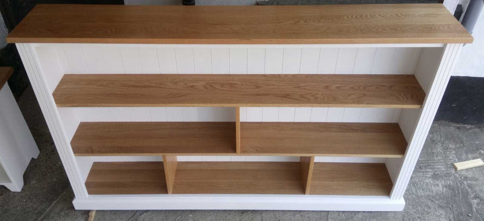 hand-made-oak-and-painted-pine-bookcase-Dartford