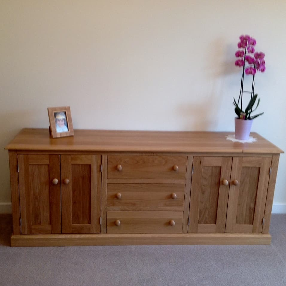 Hand made wooden oak sideboard Canterbury Kent