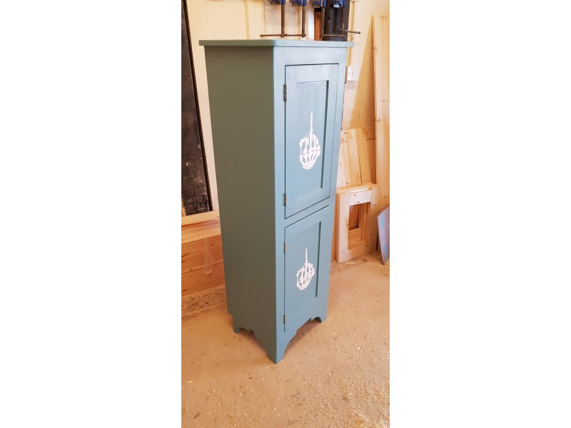 Blue made to order cupboard bathroom Canterbury
