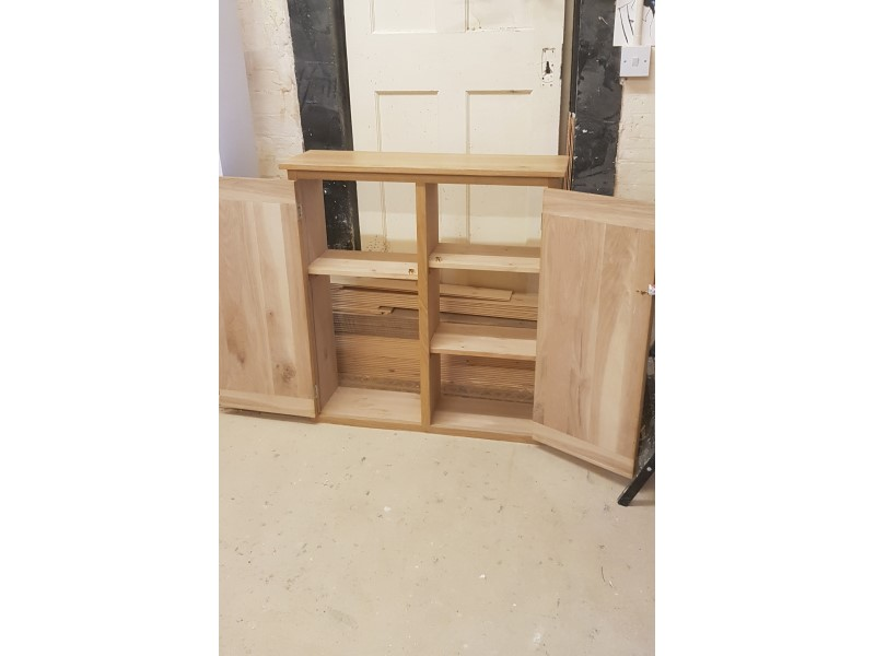 Bespoke oak cupboard meter cover Ashford