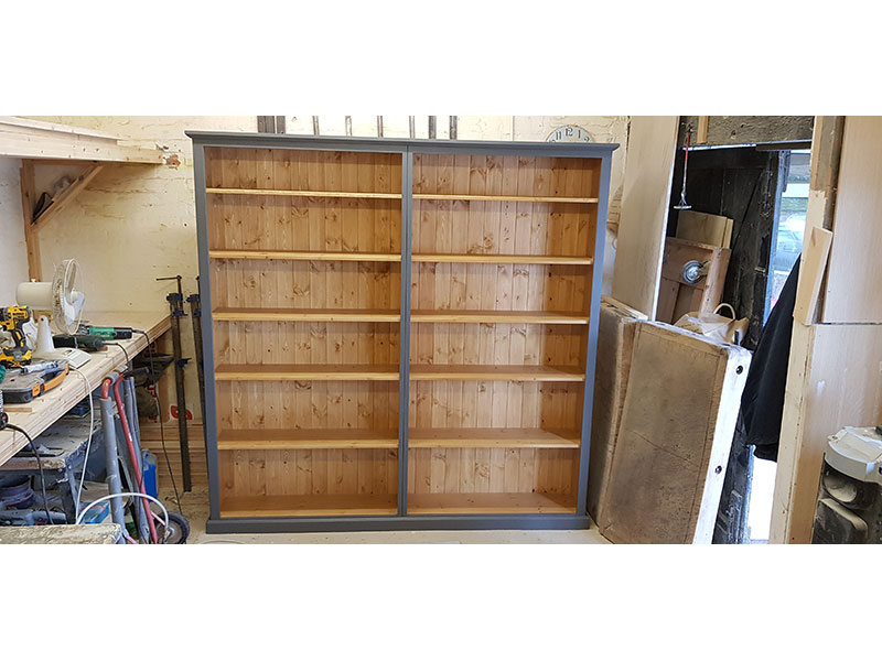 Hand-made-painted-pine-bookcase-Folkestone-Kent