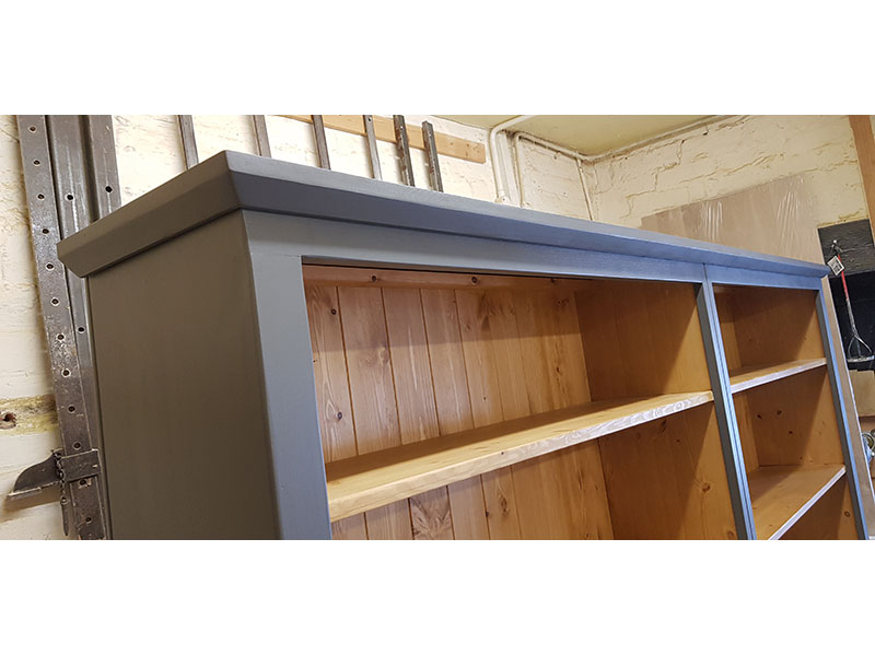 Hand-made-painted-pine-bookcase-Hythe-Kent