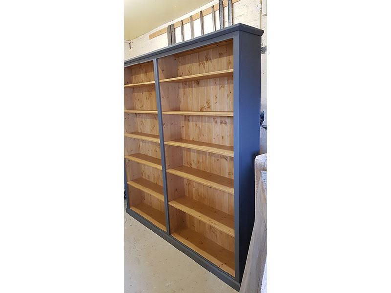 Waxed-bookcase-hand-made-Ashford-Kent